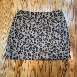 Top shop cheetah print skirt